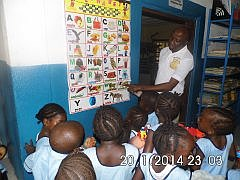 Children at Sam Abu Memorial Pre-School
