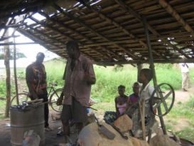 Eine traditionelle Schmiedewerkstatt