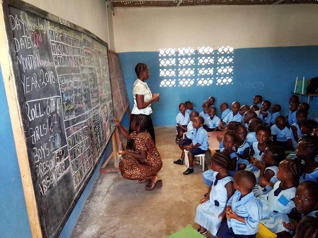 Unterricht in der ersten Vorschulklasse